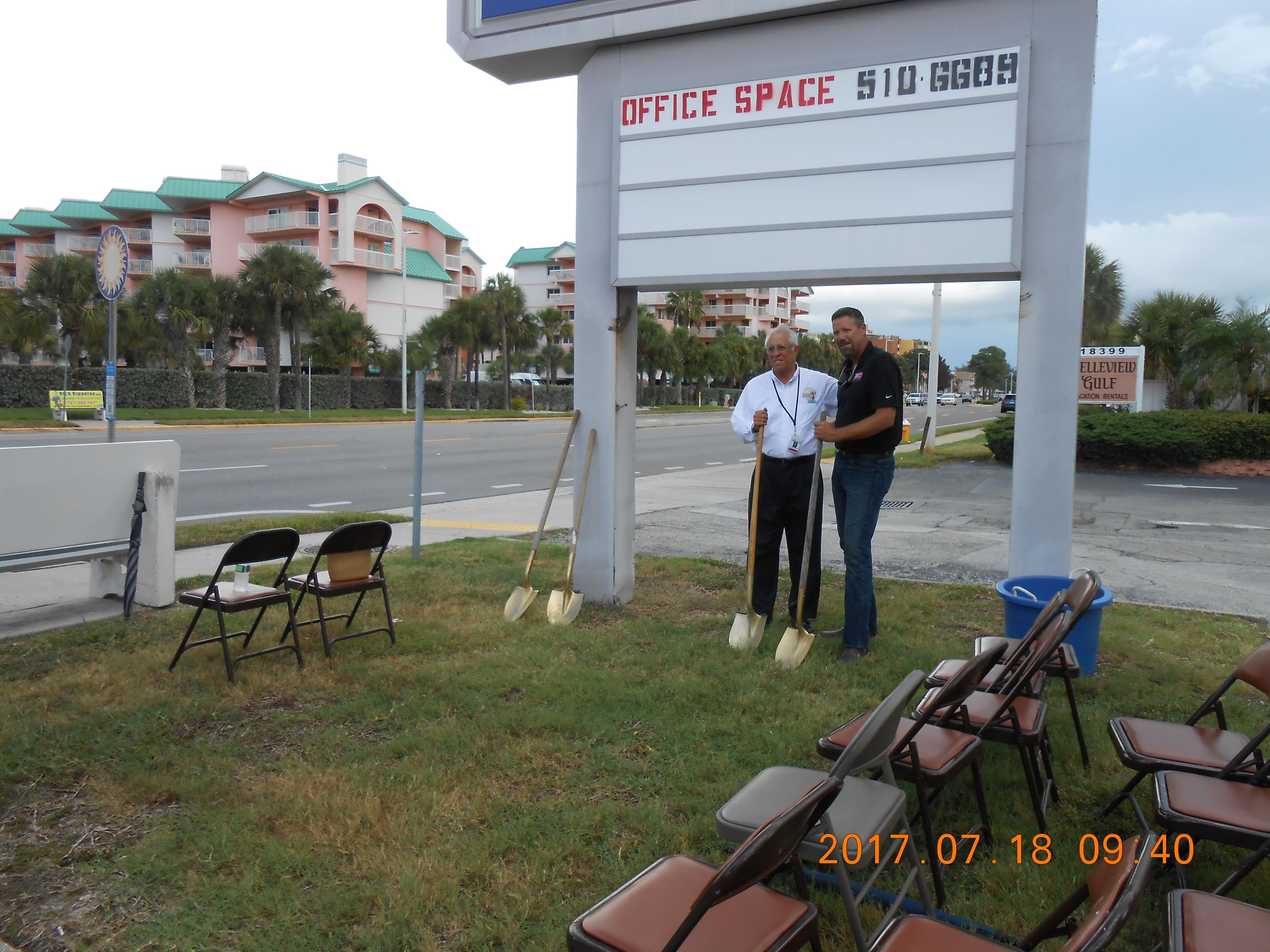 Mayor Soranno & Mark Almeda, Ameriscape V.P.