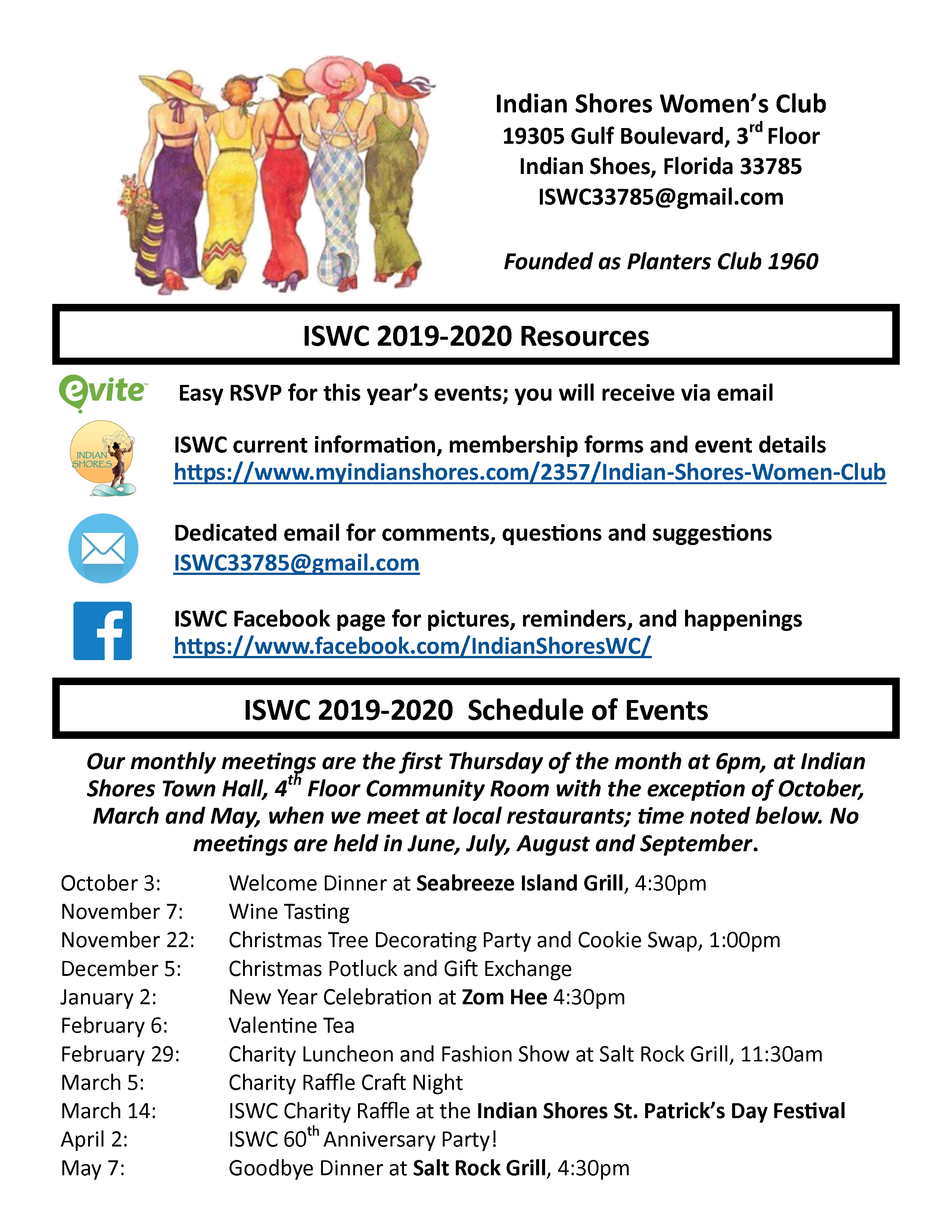 ISWC Events List 2019-2020