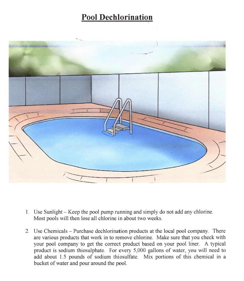 Pool Dechlorination